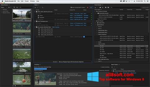 Snimak zaslona Adobe Media Encoder Windows 8