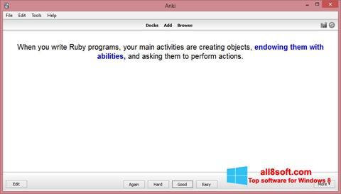 Snimak zaslona Anki Windows 8