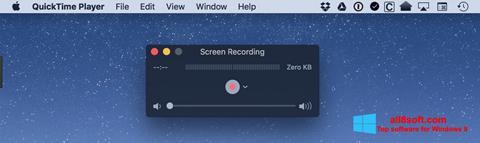 Snimak zaslona QuickTime Windows 8
