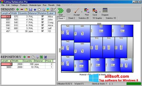 Snimak zaslona Cutting Windows 8