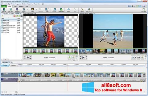 Snimak zaslona VideoPad Video Editor Windows 8