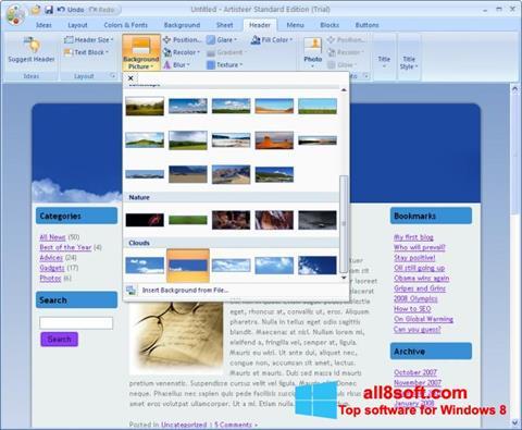Snimak zaslona Artisteer Windows 8