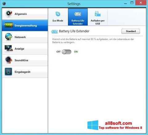 Snimak zaslona Easy Settings Windows 8