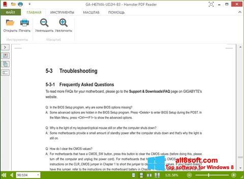 Snimak zaslona Hamster PDF Reader Windows 8