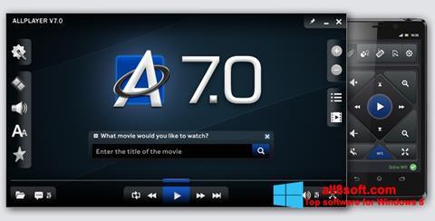 Snimak zaslona ALLPlayer Windows 8
