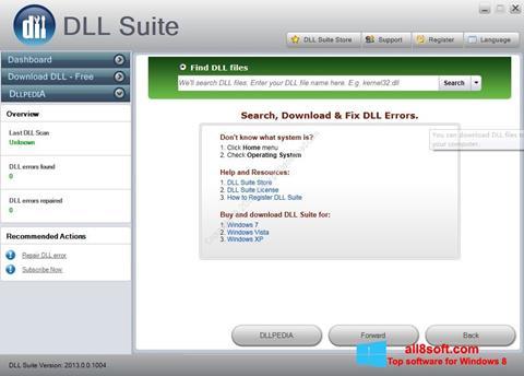 Snimak zaslona DLL Suite Windows 8