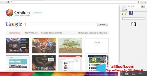 Snimak zaslona Orbitum Windows 8