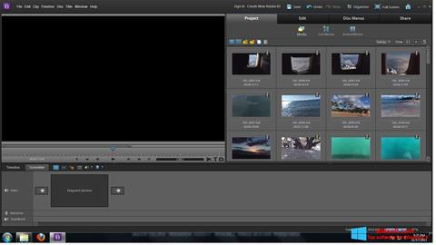 Snimak zaslona Adobe Premiere Elements Windows 8