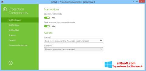 Snimak zaslona Dr.Web Security Space Windows 8