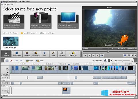 Snimak zaslona AVS Video Editor Windows 8