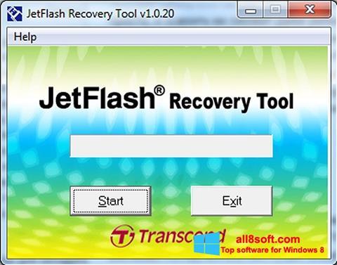 Snimak zaslona JetFlash Recovery Tool Windows 8