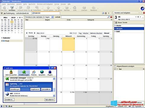 Snimak zaslona SeaMonkey Windows 8