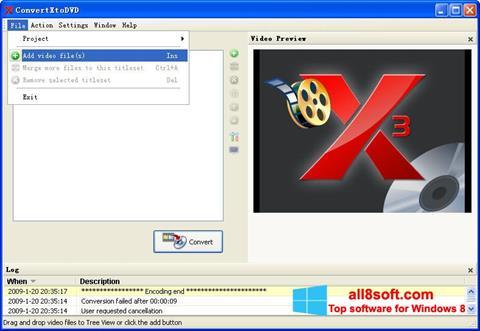 Snimak zaslona ConvertXToDVD Windows 8