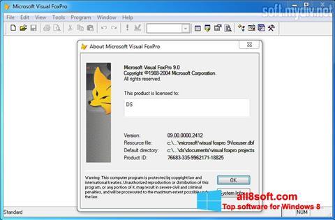 Snimak zaslona Microsoft Visual FoxPro Windows 8