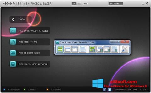 Snimak zaslona Free Studio Windows 8