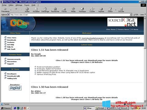 Snimak zaslona CDex Windows 8