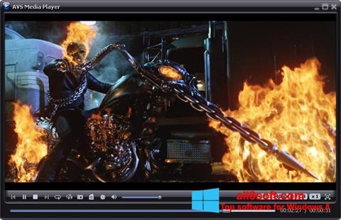 Snimak zaslona AVS Media Player Windows 8
