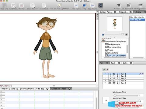 Snimak zaslona Toon Boom Studio Windows 8