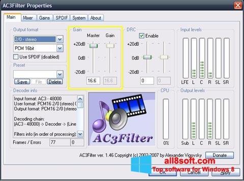 Snimak zaslona AC3Filter Windows 8