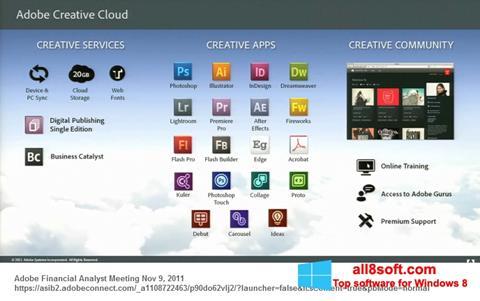 Snimak zaslona Adobe Creative Cloud Windows 8