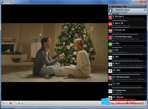 Snimak zaslona IP-TV Player Windows 8