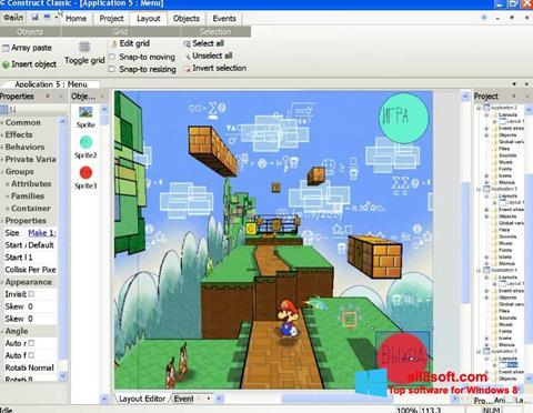 Snimak zaslona Construct Classic Windows 8
