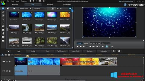 Snimak zaslona CyberLink PowerDirector Windows 8