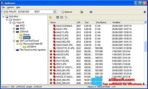 Snimak zaslona IsoBuster Windows 8