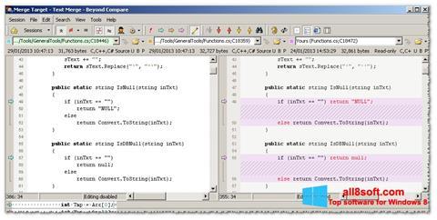 Snimak zaslona Beyond Compare Windows 8