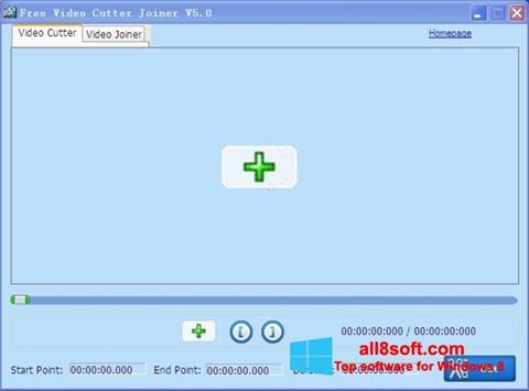 Snimak zaslona Free Video Cutter Windows 8