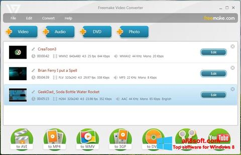 Snimak zaslona Freemake Video Converter Windows 8