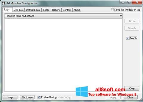 Snimak zaslona Ad Muncher Windows 8