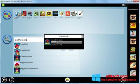 Snimak zaslona BlueStacks Windows 8