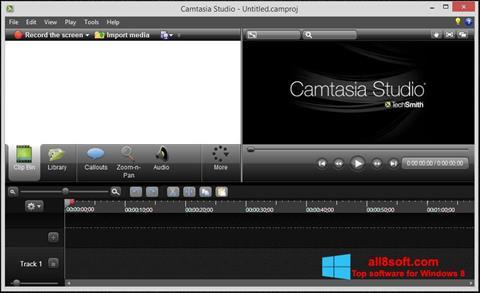 Snimak zaslona Camtasia Studio Windows 8