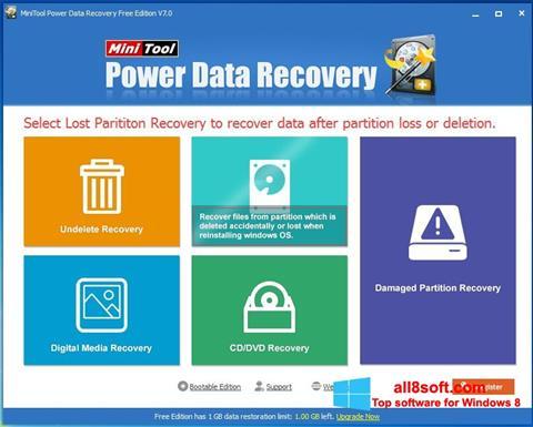Snimak zaslona Power Data Recovery Windows 8