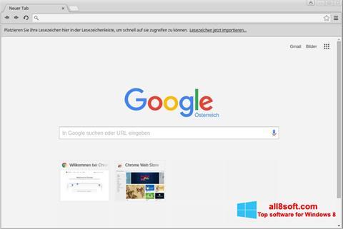 Snimak zaslona Google Chrome Windows 8