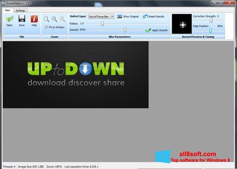 Snimak zaslona SmartDeblur Windows 8