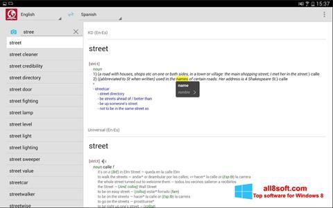 Snimak zaslona ABBYY Lingvo Windows 8