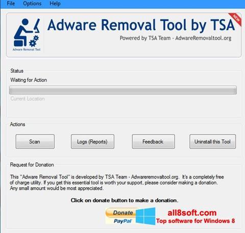 Snimak zaslona Adware Removal Tool Windows 8