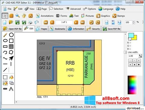 Snimak zaslona PDF Reader Windows 8
