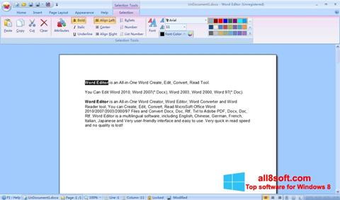 Snimak zaslona DocX Reader Windows 8