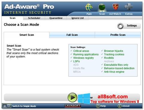 Snimak zaslona Ad-Aware Windows 8