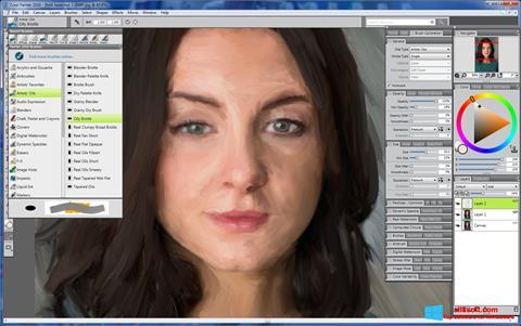 Snimak zaslona Corel Painter Windows 8