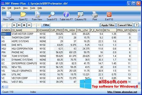 Snimak zaslona DBF Viewer Windows 8