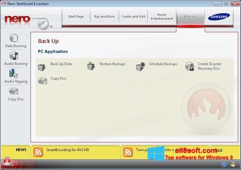 Snimak zaslona Nero Windows 8
