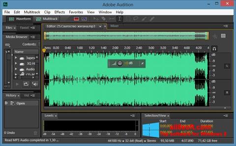 Snimak zaslona Adobe Audition CC Windows 8