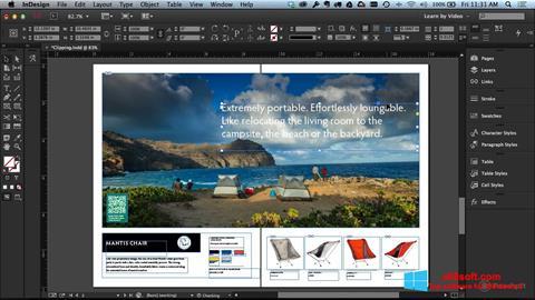 Snimak zaslona Adobe InDesign Windows 8