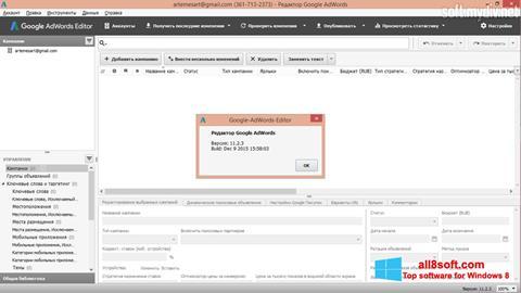 Snimak zaslona AdWords Editor Windows 8