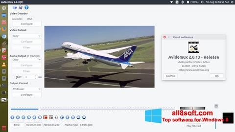Snimak zaslona Avidemux Windows 8