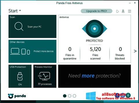 Snimak zaslona Panda Windows 8